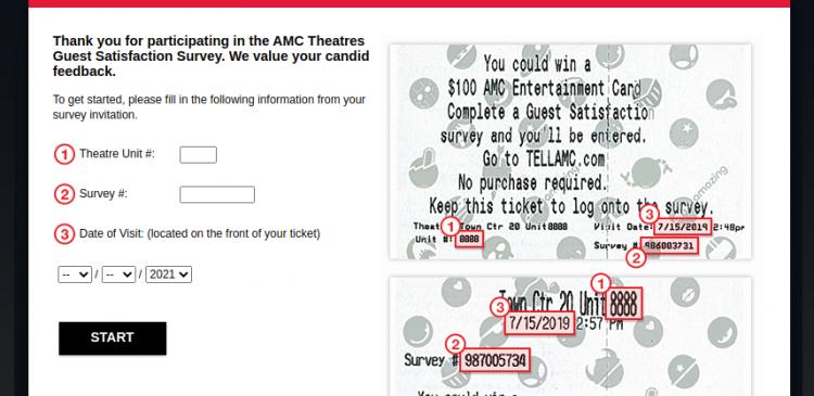 AMC Theatres Guest Survey logo