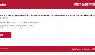 bob evans guest survey