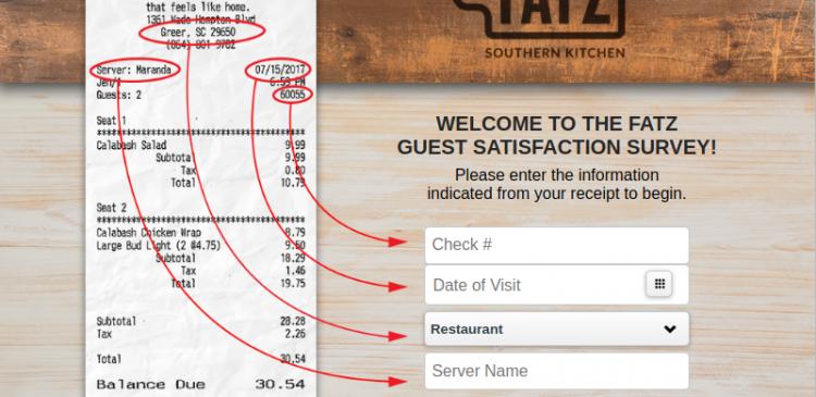 Fatz Cafe Satisfaction Survey
