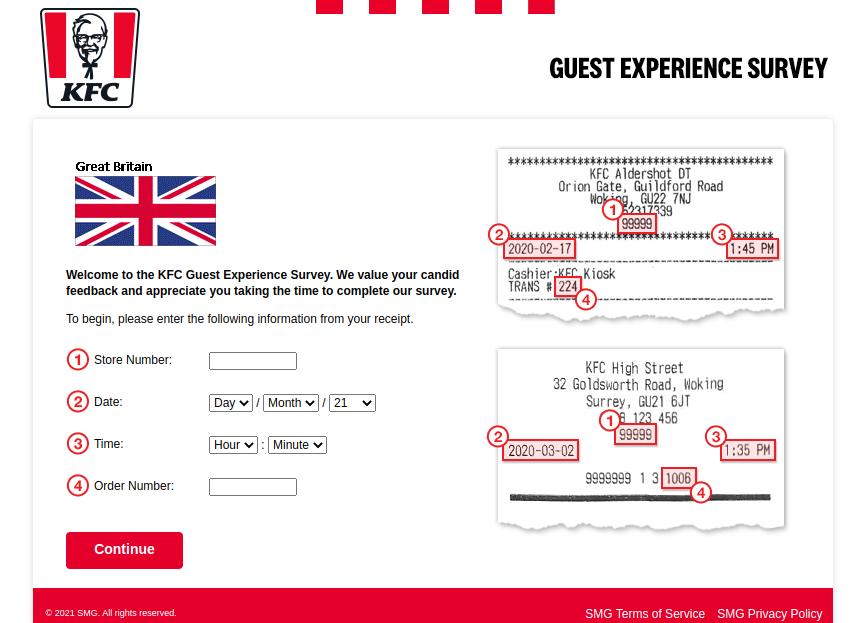 KFC Great Britain Survey