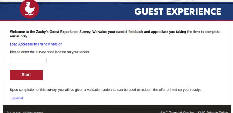 Zaxbys Guest Survey