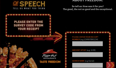 pizza hut uk survey logo