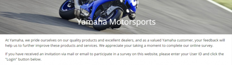 yamaha customer survey logo