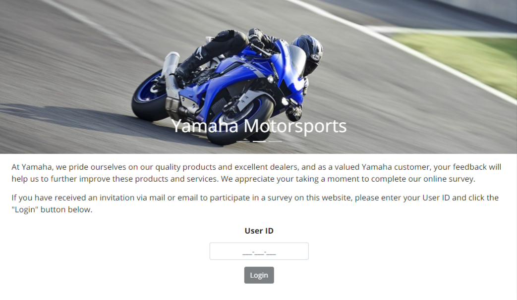 yamaha customer survey