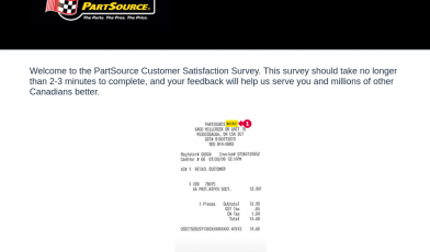 PartSource survey