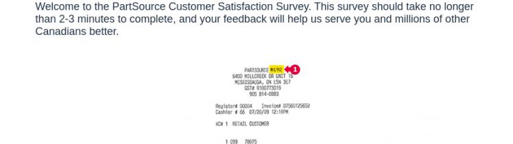 PartSource survey