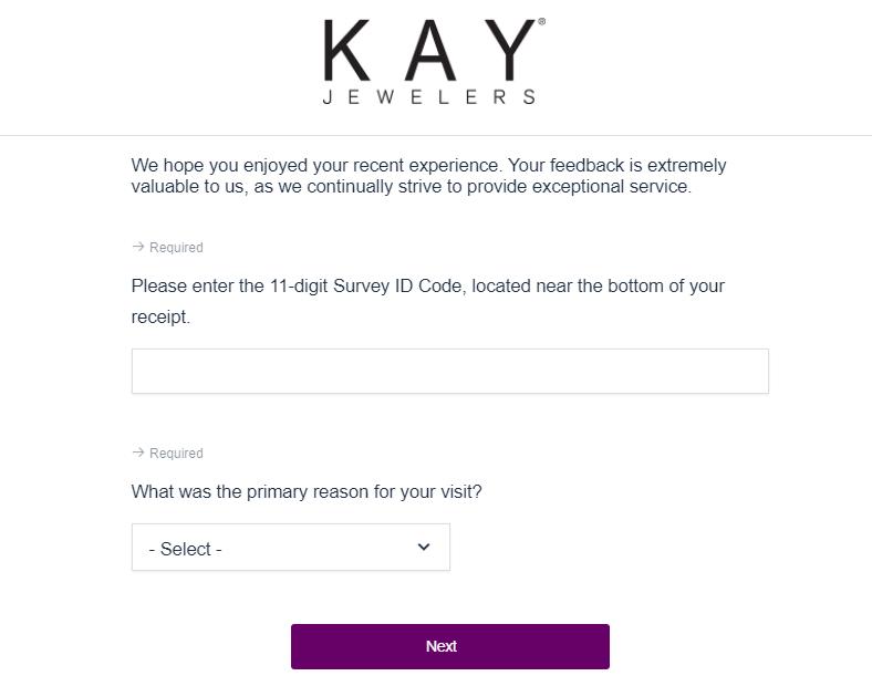kay jewelers survey