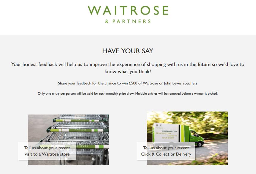 waitrose customer survey