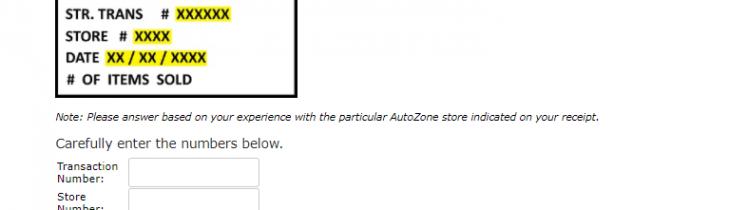 autozone survey logo